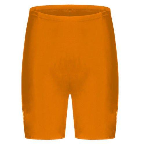 EN COTON ET LYCRA ÉLASTIQUES POUR FEMME-DESSUS DU GENOU ACTIVE/CASUAL SHORT DE VÉLO/SPORT-COLLANT-FEMME Orange - Orange fluo