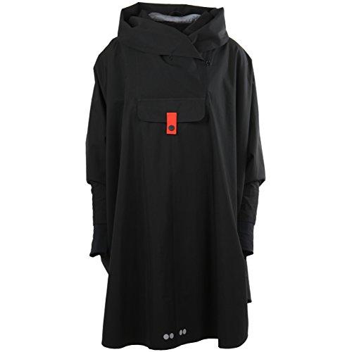 Blaest Woman Raincoat Bergen Poncho Black Black