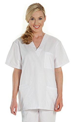 NCD Medical/Prestige Medical 302-WHT-3X Scrub Top