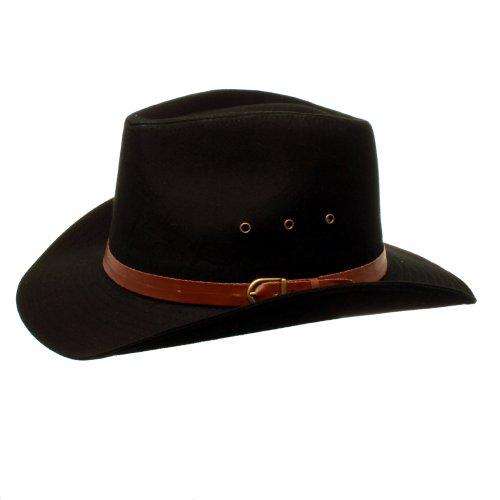 Accessoryo - Hommes Noir Stetson Chapeau De Cow -Boy De Style Disponibles dans Un Choix De Tailles