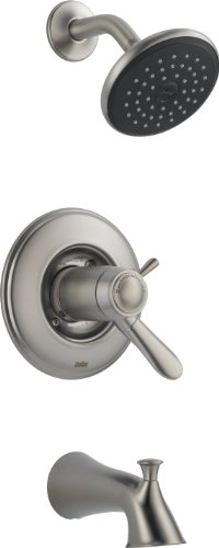 Delta T17T438-SS Lahara Tempassure 17T Series Tub and Shower Trim, Stainless by DELTA FAUCET -