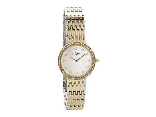 Femmes Rotary Nacre Cadran Analogique Quartz Montre Bracelet LB00247/41