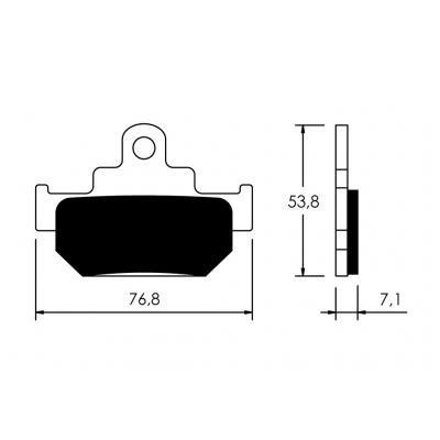 V PARTS - P10788/54 : Pastillas de freno delanteras