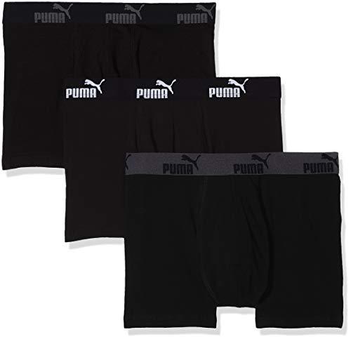 Puma Herren Badehose Promo Lot de 3 Boxer, 3er Pack, Schwarz (Black), Medium