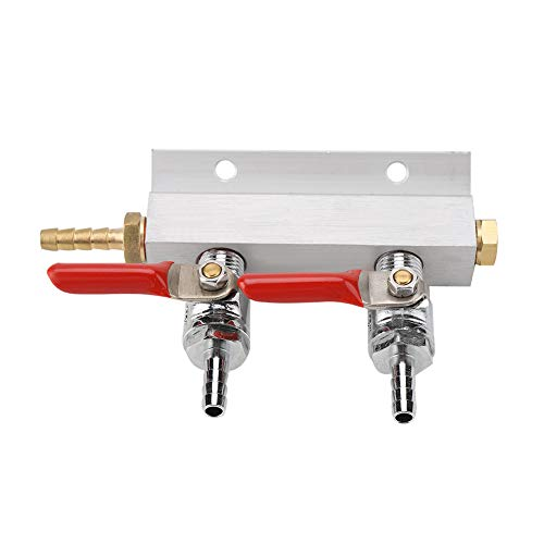 Gas Distribution – 2 Way Beer Gas Distributor Co2 Air Gas Manifold Distribution Splitter for Homebrew Beer Making…
