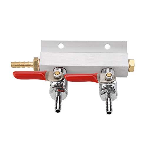 OKBY Biersplitter - Bierverteiler Muti-Way Home CO2-Verteiler für Gasverteiler Verteiler Bier 2-Wege