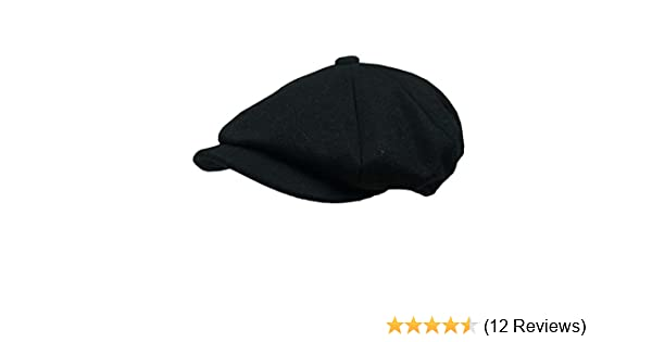 46bb6db6d12 Earland Brothers Failsworth Peaky Shelby Blinders Style Cap- Black  Amazon. co.uk  Clothing