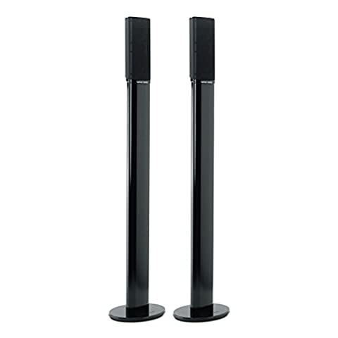 Harman/Kardon Set of Two Aluminium Floor Stands with Cable Managment System (876mm High) Compatible with the HKTS 9, HKTS 16 and HKS 4 Satellite Speakers - Black