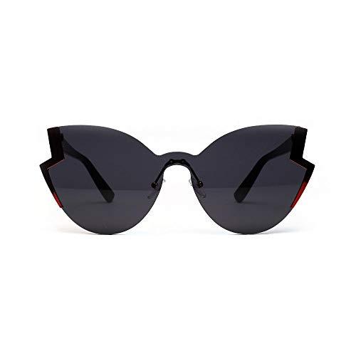 Drreny Retro Big Frame Brille Schmetterling Typ Cat Eye Sonnenbrille Schmetterling Big Box Damen Sonnenbrille Schwarz