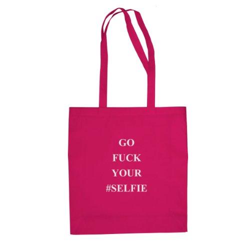 Go Fuck your Selfie - Stofftasche / Beutel Pink