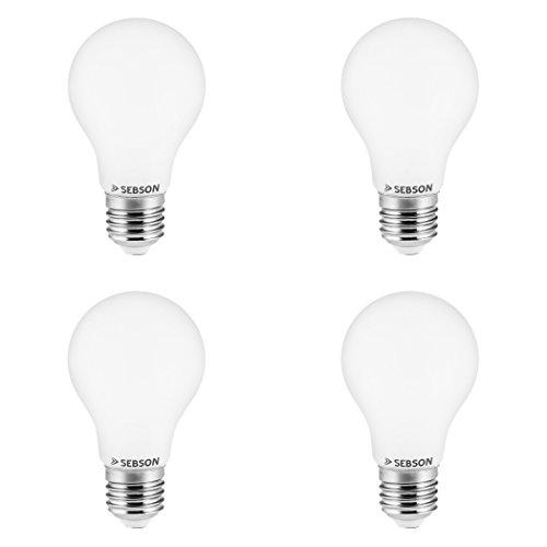 SEBSON® 4er-Pack E27 LED 6W Lampe - vgl. 40W Glühlampe - 470 Lumen - E27 LED warmweiß - LED Leuchtmittel 300°
