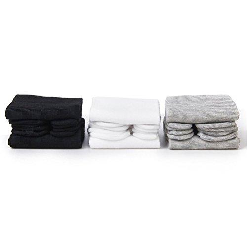 PIXNOR 3 Paar elastische Baumwolle Tabi Zehe Socken (weiß + grau + schwarz)