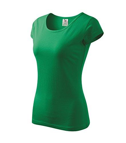 T-Shirt für Damen Ladies Shirt Pure - Größe und Farbe Wählbar- (S, Grasgrün) (T-shirt Grün Farbe)