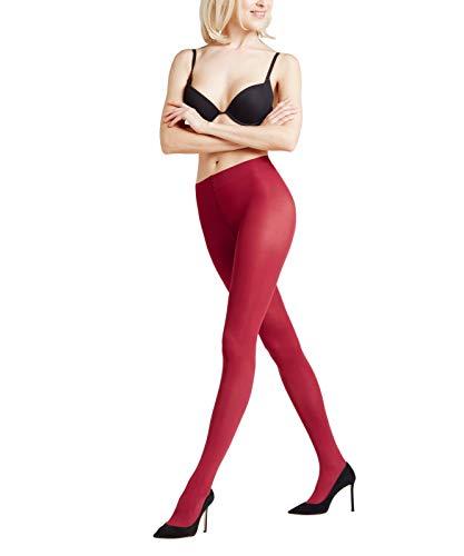 FALKE Damen feine Strumpfhosen / Leggings Pure Matt 50 den - 1 Paar, Gr. L, rot, robust semi-opaque hautschmeichelnd