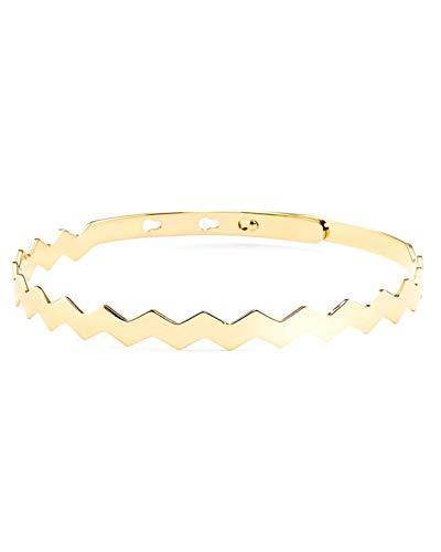 PURELEI ® Damen Armreif (Edelstahl) individuell Größenverstellbar (Handgefertigt) Verschiedene Motive & Farben (Gold, Rosegold, Silber) Armband Frauen Schmuck