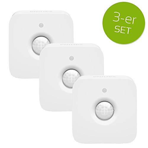 3er Set Philips Hue Bewegungsmelder Infrarot Sensor Bewegungssensor weiß IP42 drehbar schwenkbar