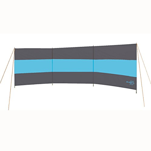 Windschutz Populär, 5x1,40 m, 170T polyester, grau/blau - Sicht Schutz Sonnen Camping Strand Garten Terasse Seitenmarkise