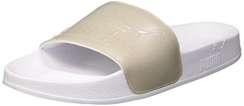 Puma leadcat ep wns q2, scarpe da spiaggia e piscina donna, bianco white-gray violet, 40.5 eu