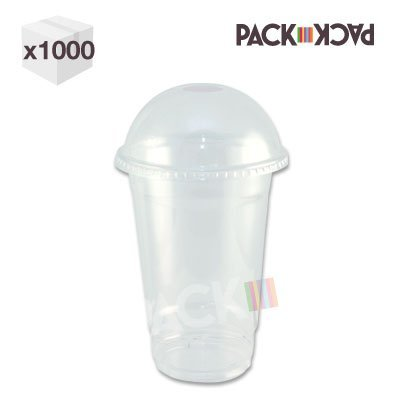 12 oz Clear PET Smoothy Cup with domed lid x 1000 Test