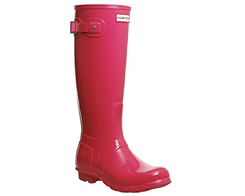 Hunter Original Gloss, Damen Stiefel Bright Pink