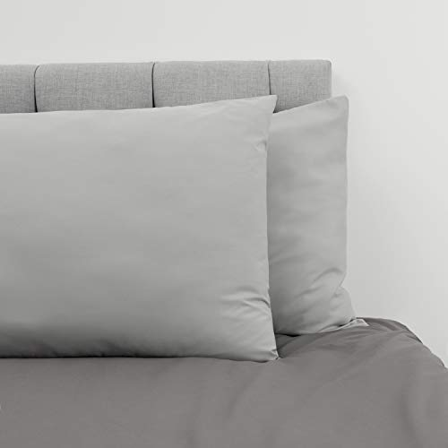 Dreamzie ⭐Set de 2 x Fundas de Almohada 65 x 65 cm, Gris Estaño, Microfibra (100% Poliéster) - Fundas de Almohadas - Fundas de Cojin Cama, Funda de Almohada Cojin Calidad Cómoda Hipoalergénica