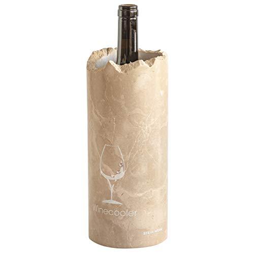 STEIN:WERK Weinkühler Flaschenkühler Weinglas Swarovski Dolomit Kalkstein Stein Kühlmanschette | Kühler für Weinflaschen
