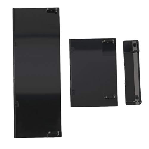 Konsole 1 Tür (JohnJohnsen Ersatz-Speicherkarte Tür Slot-Abdeckung Deckel Memeory Kartenabdeckung 3 Teile Türabdeckungen für Nintendo für Wii Konsole Black (schwarz))