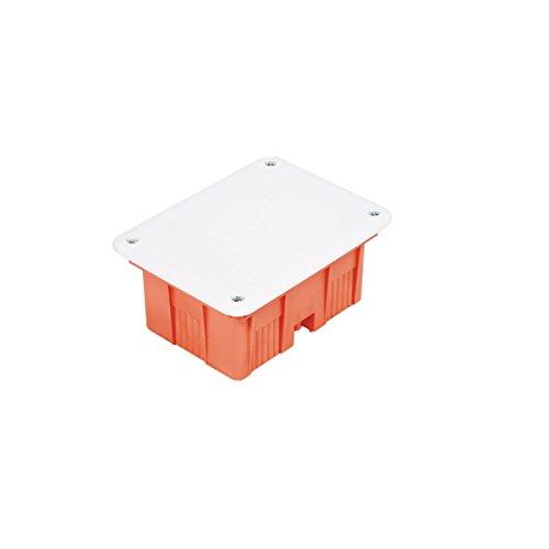 Unterputz Abzweigkasten 144x104x74 Abzweigdose, UP Gehäuse mit weißem Deckel