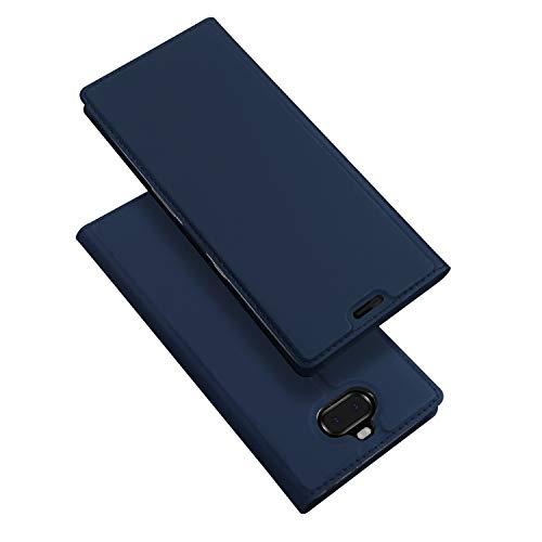 DUX DUCIS Hülle für Sony Xperia 10, Leder Flip Handyhülle Schutzhülle Tasche Case mit [Kartenfach] [Standfunktion] [Magnetverschluss] für Sony Xperia 10 (Blau)
