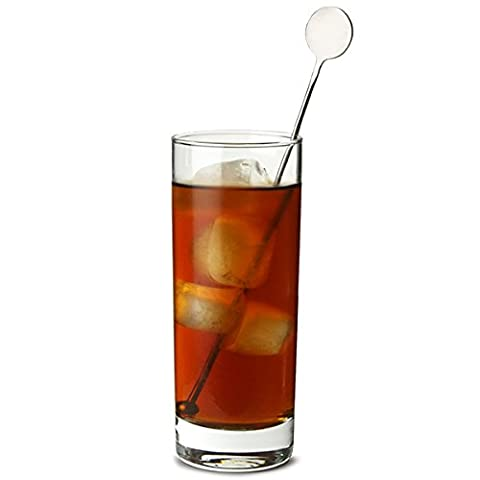 Stainless Steel Swizzle Stick Disc Stirrers by bar@drinkstuff - Pack of 4   Cocktail Stirrers, Drink Stirrers