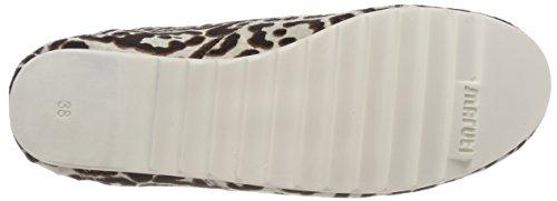 Maruti Damen Ginny Hairon Leather Stiefeletten Grau (Cheetah White/Black)
