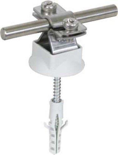 Dehn+Söhne Leitungshalter 274 160 NIRO f. Rd 8-10 mm Leitungshalter für Blitzschutz 4013364123380 (3 Stück Leitungshalter)