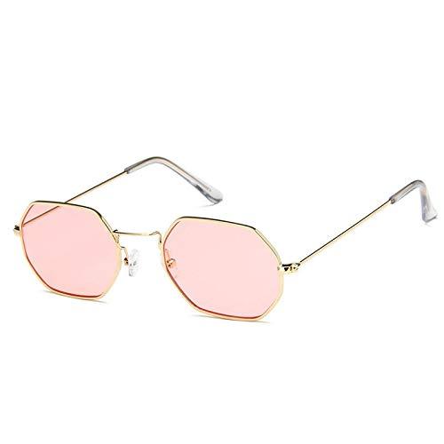 YUHANGH Kleine Sonnenbrille Frauen Retro Bunte Transparente Bunte Mode Quadrat Rosa Blau Sonnenbrille Männer
