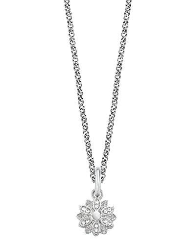Morellato scz734, collana con charm drops, da donna, in acciaio inossidabile, con cristallo bianco