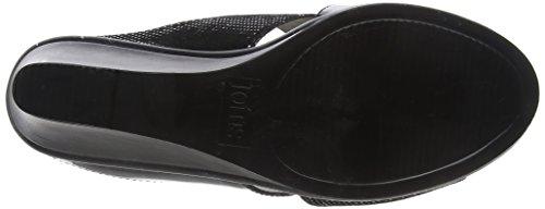 Lotus Damen Trino Offene Sandalen mit Keilabsatz Black (Black Patent/Snake)