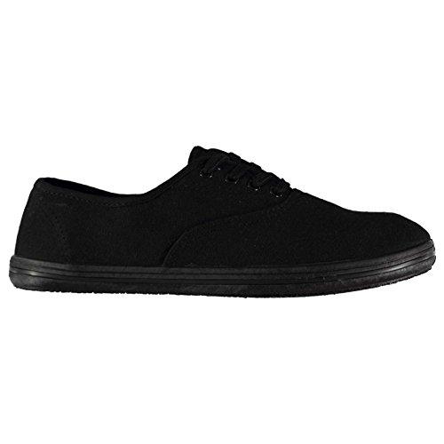 Burgund Skate (Slazenger Herren Canvas Sneaker Burgund Schwarz 44 2/3 EU)