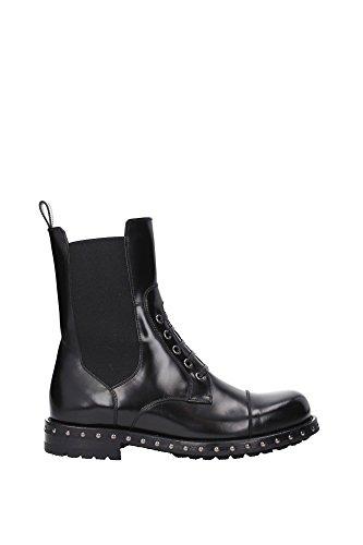 Dolce & Gabbana Frauen Mitte Kalb Booties in schwarz Kalbsleder - Modellnummer: CT0216 AC801 80999 Schwarz