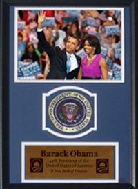 Encore Select Barack Obama und Michelle Obama mit den Präsidentschafts- Euro-Gedenkmünzen Patches 12 - Poster Trading Card