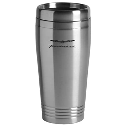 Ford Thunderbird Travel Mug Silver by The Car Guy Superstore