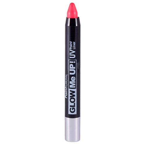 Smiffys - SM46143 - Liner UV Glow Me Up 2 - 5 g Rose - Taille Unique