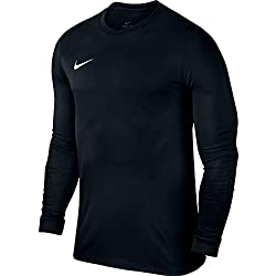 Nike Park VI Jersey LS Maillot Homme, Noir (Black/White 010), FR : M (Taille Fabricant : M)