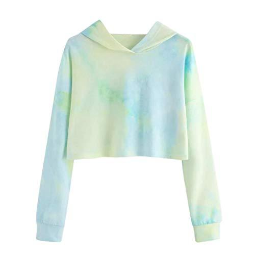 Felicove Damen Sweatshirt, Hoodie Gedruckt Patchwork Sweatshirt Langarm Pullover Tops Bluse mit Überkreuz Kragen und Fleece Innen