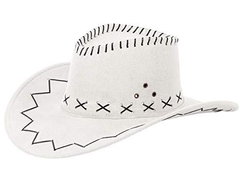 Alsino Cowboyhut Westernhut in One Size Größe aus Polyester, Weiß (01)