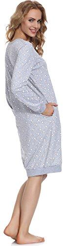 Cornette Damen Nachthemd 652 2016 Melange(White Bear)