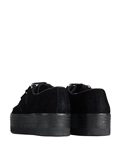 Jeffrey Campbell Play Wing Creeper Shoes All Black-haute semelle chaussures noires Noir - Noir