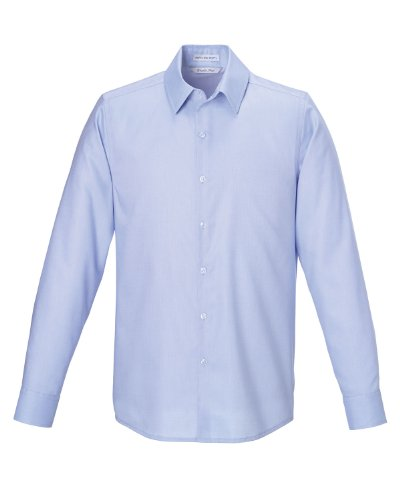 Ceneri City Men's North End Re antirughe, tessuto quadrettato tipo ratiera in cotone Oxford-Camicia con bottoni COOL BLUE 808 XXL
