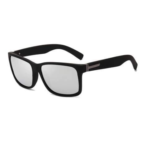 WENZHEN Polarized Simple Style Outdoor Rechteck Sonnenbrille, Silber