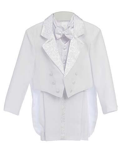 Fine Brand Shop White Baby Boy & Boys Tuxedo Suit, Special occasion suit, Jacket, Shirt, Vest, Pants, Bowtie - 10