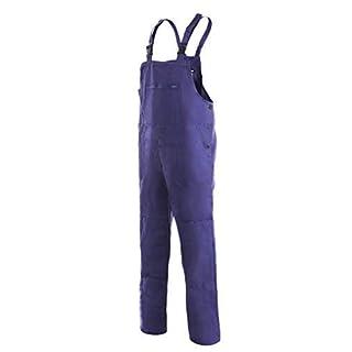 CXS Franta Arbeitslatzhose Herren 100% Baumwolle - Sehr Stabile Strapazierfähige Arbeitshose mit Hosenträger Gartenhose Bundhose Cargohose Arbeitsoveral (Blau, Größe 52)