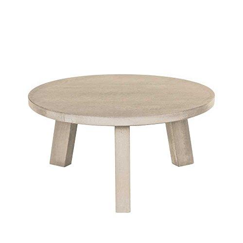 Eiche Traditionellen Sofa-tisch (Wohnzimmer Couchtisch aus Eiche Massivholz Rund Breite 80 cm Höhe 33 cm Tiefe 80 cm Pharao24)